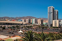 twin towers and Congress building. Santa Cruz de Tenerife