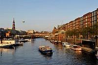 Germany, Hamburg, European Green Capital 2011, Binnenhafen, interior harbour