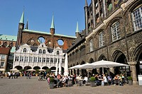 Germany, Schleswig Holstein, Lubeck, listed as World Heritage by UNESCO, Lubeck town hall Rathaus