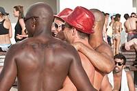 Israel, Tel Aviv, Gordon Beach during Gay Pride