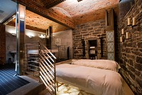 Canada, Quebec province, Montreal, Hotel St James is located in a former bank and is the most luxurious of the city, the old vault built in spa