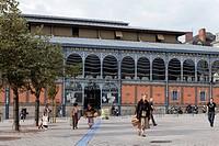 France, Haute Vienne, Limoges, hall market, place of La Motte