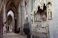 France, Haute Vienne, Limoges, cathedral of Saint Etienne, Raynaud de la Porte tomb