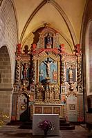 France, Correze, Parc Naturel Regional de Millevaches en Limousin Regional Natural Park of Millevaches en Limousin, Correze, church of Saint Martial