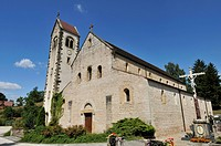 France, Haut Rhin, Sundgau, Feldbach, Saint Jacques of the twelfth century, is the first priory founded by Frederic County Route Romane Ferrette in 11...