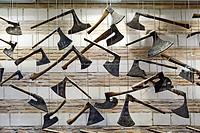 France, Aube, Troyes, Hotel de Mauroy Mansion, Musee de l´Outil et de la Pensee Ouvriere Tool Museum, unique collection of some seven miles shaping to...