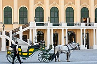 Austria, Vienna, historic center listed as World Heritage by UNESCO, Schonbrunn Castle, built between 1696 and 1699 by Johann Bernhard Fischer von Erl...
