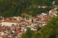 France, Haute Loire, Blesle, labelled Les Plus Beaux Villages de France The Most Beautiful Villages of France, overview of the village