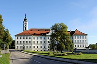 Schaeftlarn Abbey, Upper Bavaria, Bavaria, Germany, Europe, PublicGround