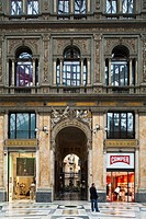 Italy, Campania, Naples, Historic center, listed as World Heritage by UNESCO, Galleria Umberto I of Italy, a covered passageway opened in 1890, and de...