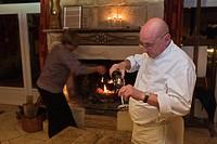 France, Dordogne, St. Avit Senieur, Grand Peyssou, Auberge La Source Peyssou, Chef Jean Claude Laurent