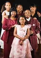 Portrait of well dressed African family