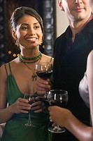 Portrait of Hispanic woman at party