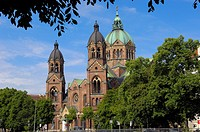 Lukaskirche (St Lukas Church), Munich, Bavaria, Germany, Europe