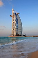 Burj Al Arab hotel at Jumeirah beach, Dubai, United Arab Emirates  UAE