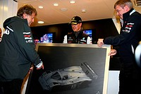 Michael Schumacher GER, Mercedes GP Petronas F1 Team celebrates his first F1 drive at Spa 20 years ago with Norbert Haug GER, Motorsport chief and Ros...