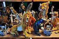 Plastic animals, Auer Dult market, Munich, Bavaria, Germany, Europe
