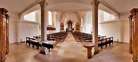 Interior view of Urfahr parish church, Linz, Upper Austria, Austria, Europa