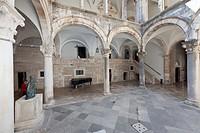 Rector's Palace, Pred Dvorom, old town of Dubrovnik, UNESCO World Heritage Site, central Dalmatia, Dalmatia, Adriatic coast, Croatia, Europe