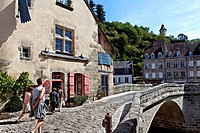 Medieval bridge, Terrade district, Aubusson, Creuse, France, Europe