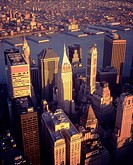 U S A , New York, Financial District, aerial view