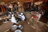Market inside the refugee camp