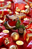 1, beard, whiskers, Santa, Santa Claus, decoration, figure, present, presents, gift parcel, parcel, belt, caricature, candle, candle_light, cold, lant...