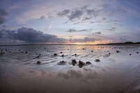 Clouds and wadden sea, south bank of the Ellenbogen peninsula, List, Sylt Island, Schleswig-Holstein, Germany, Europe