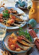 Marinated sardines, Italy, recipe available for a fee