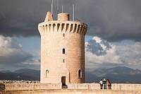 bellver castle, watchtower, palma de mallorca, mallorca island, spain, europe