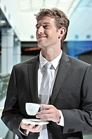 Businessman with coffee cup