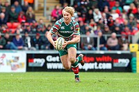 05 05 2012 Leicester, England Leicester Tigers v Bath Rugby Leicesters BILLY TWELVETREES starts an attacck from open play during the Premiership Rugby...