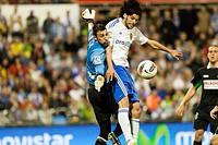 05 05 2012 Zaragoza, Spain Real Zaragoza 2 _ 1 Racing de Santander, Real Zaragoza´s Lafita and Racin de Santander´s Mario Fernandez in action during t...
