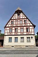 Half-timbered house, historic district, Rothenburg ob der Tauber, Bavaria, Germany, Europe