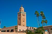 Koutoubia Mosque and Minaret, Marrakech, Morocco, Africa
