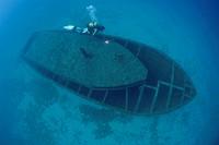 Shipwreck of the Mavi, Turkish Riviera, Lycian Coast, Kas, Lykia, Turkey, Mediterranean