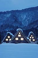 Shirakawa village in winter