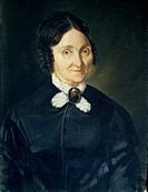 Giovanni Baccarlino (1826-1889), Portrait of Donna Tecla Antonini de Laska, oil on canvas, 47x63 cm.  Varallo, Pinacoteca Palazzo Dei Musei (Picture G...