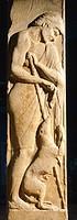 Anassandro funerary stele, from Apollonia Pontica (now Sozopol), Bulgaria. Thracian Civilization, 4th Century BC.  Sofia, Natsionalen Arheologitcheski...