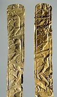 Gold foils with figures of animals (Greece). Detail. Goldsmith art, Greek Civilization.  Athens, Ethnikó Arheologikó Moussío (National Archaeological ...
