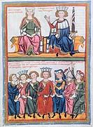 Miniature from the Codex Manesse, manuscript, 1304, Germany.  Heidelberg, Universitatsbibliothek Heidelberg (Library)