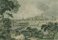 Panoramic view of Vienna, Austria 18th Century.