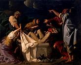 The burial of Christ, by Bartholomew Schedoni (1578-1615).  Parma, Galleria Nazionale (Art Gallery), Palazzo Della Pilotta