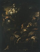 The Ecstasy of St Francis, by Alessandro Magnasco, known as Lissandrino (1667-1749).  Genoa, Galleria Di Palazzo Bianco (Art Gallery)