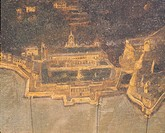 The Port of Genoa with Villa del Principe, or Doria Pamphilj Palace, by Costanzo, Italy 17th Century. Detail.  Genoa Pegli, Civico Museo Navale (Boat ...