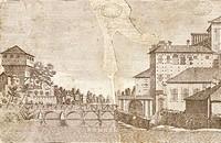 Il palazzo della Pilotta and Verdi Bridge in Parma, Italy  Parma, Archivio Di Stato Di Parma (National Archive)