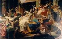 The orgies of Messalina, 1867-1868, by Federico Faruffini (1831-1869).  Private Collection