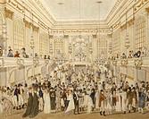 Austria, 19th century. Ball at the Vienna Ridotto hall. Watercolor.  Vienna, Historisches Museum Der Stadt Wien (History Museum)