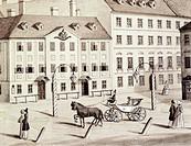 Leopoldstadt theatre in Vienna, Austria 19th Century.  Vienna, Historisches Museum Der Stadt Wien (History Museum)