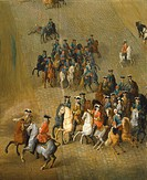 Procession of knights by Jean Baptiste Martin, France 17th Century.  Versailles, Château De Versailles